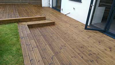 Washed and oiled decking in Reading