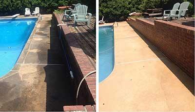 pressure washing swimming pool