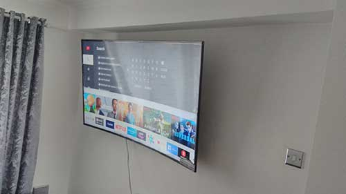 65 inch curved tv wall mounted