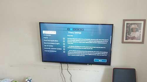 55 inch TV mounted in Caversham