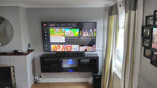 TV and Media cupboard mounted on the wall in Shinfield