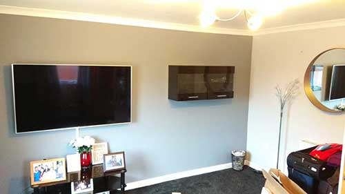TV and Media cabinet mounted in Basingstoke